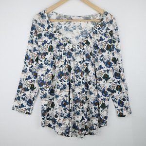 Lucky Brand V-Neck Floral Top Size M NEW